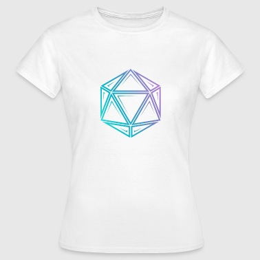 Tribal d20 fade - dnd dungeons and dragons - Women's T-Shirt