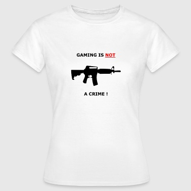Collegejacken GAMING IS NOT A CRIME ! - Frauen T-Shirt