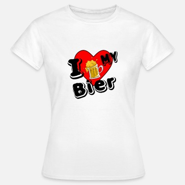 Lovestruck I love my Bier - Frauen T-Shirt