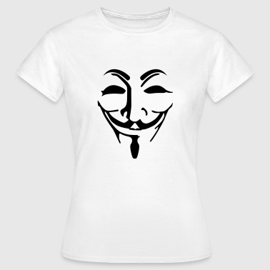 Anonymous mask fawkes - T-shirt Femme