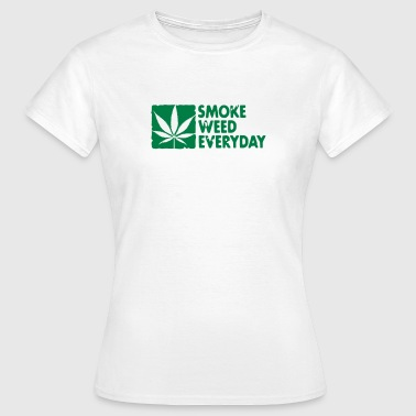 smoke weed everyday boxed - Vrouwen T-shirt