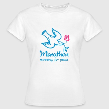 marathon_running_for_peace-T-Shirt - Frauen T-Shirt