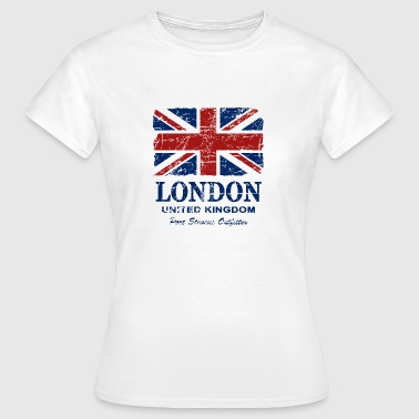 Union Jack - London - Vintage Look  - Women's T-Shirt