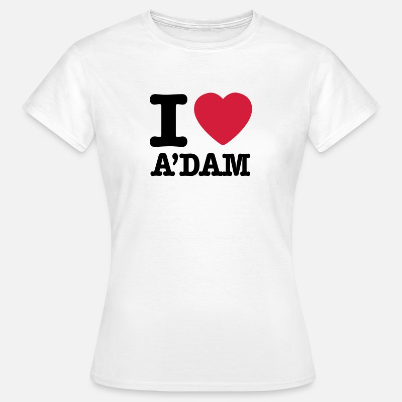 Amsterdam T-Shirts - i love amsterdam - Women's T-Shirt white