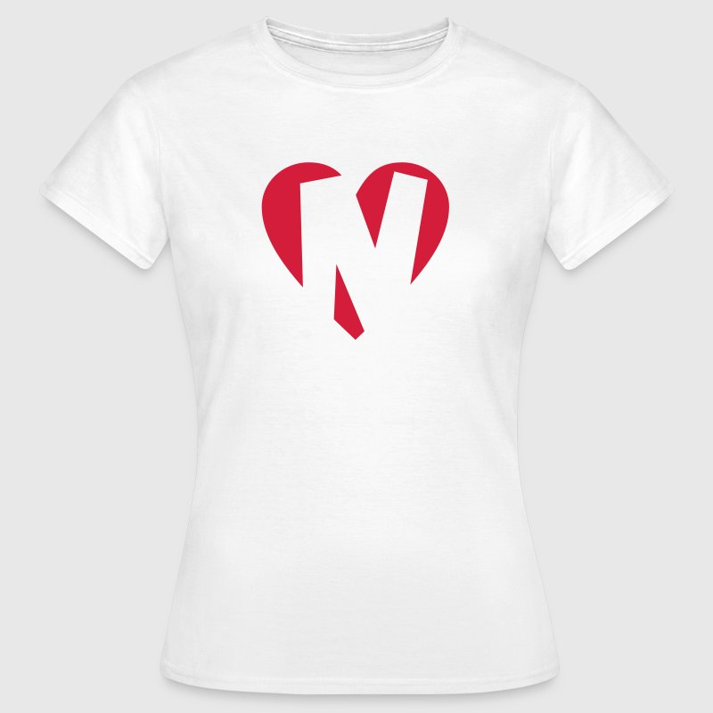 Heart N - I love N - Women's T-Shirt