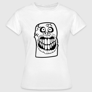Funeral Rest In Peace face horror halloween cemetery dead tombstone to - Women's T-Shirt