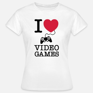 Spreadgaming I Love Video Games - T-shirt dam