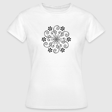 Wheel of Fortune - Mehndi Ornament Buddha  - Naisten t-paita