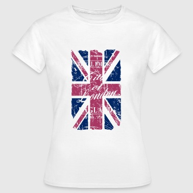 Union Jack - London - Vintage Look  - Camiseta mujer