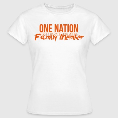 One Nation Lovemobile 2018 Logo & Perhe - Naisten t-paita