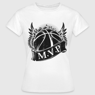 Mvp MVP Basketball Trendy Modern - T-skjorte for kvinner