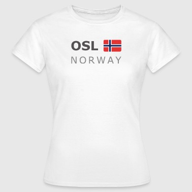 OSL NORWAY dark-lettered 400 dpi - T-shirt Femme