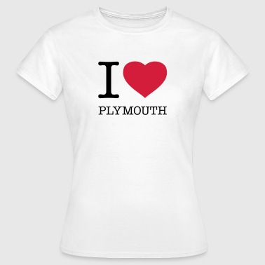 I LOVE PLYMOUTH - T-skjorte for kvinner