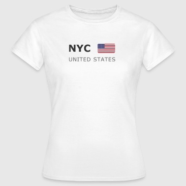 NYC UNITED STATES dark-lettered 400 dpi - Dame-T-shirt