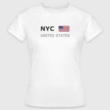 NYC UNITED STATES dark-lettered 400 dpi - Maglietta da donna