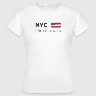 NYC UNITED STATES dark-lettered 400 dpi - T-shirt Femme