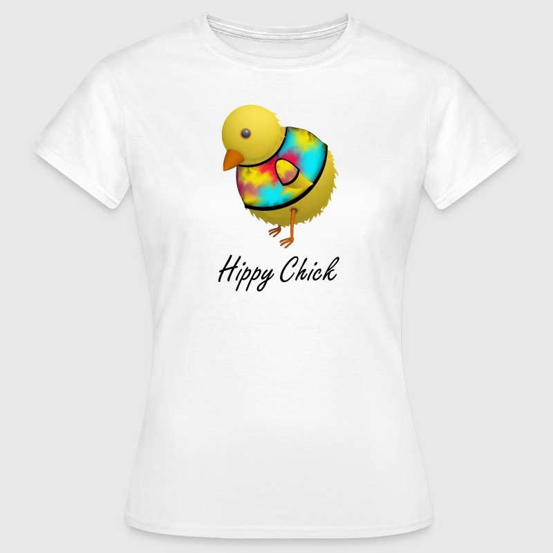Hippy Chick Humourous Cartoon - Women's T-Shirt