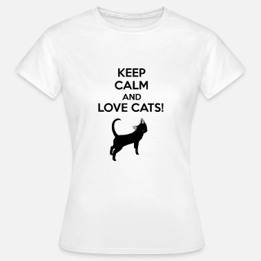Keep Calm Cats Maglietta uomo - Keep calm and love cats - Maglietta da donna