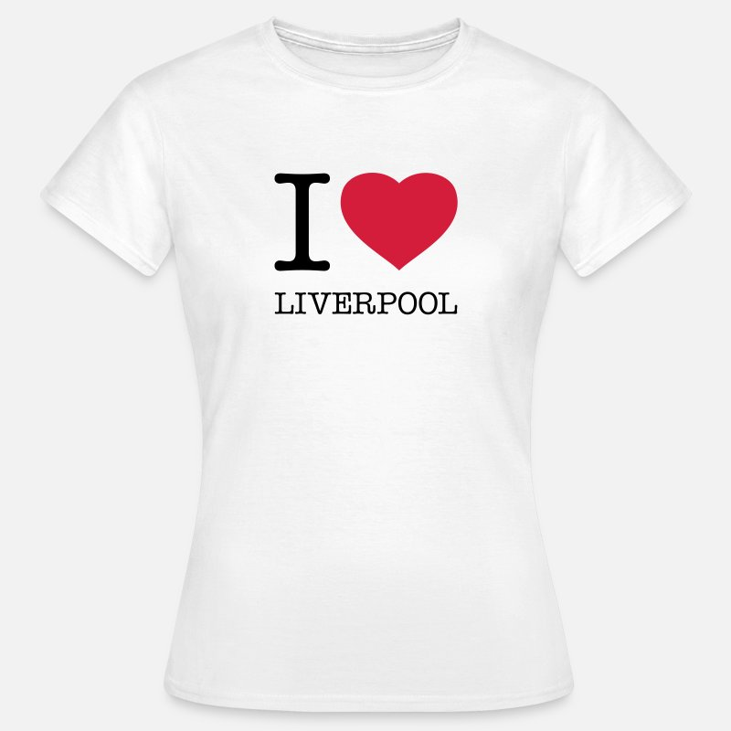 Liverpool T-Shirts - I LOVE LIVERPOOL - Women's T-Shirt white