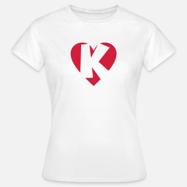 Letter K Heart K - I love K - Women's T-Shirt