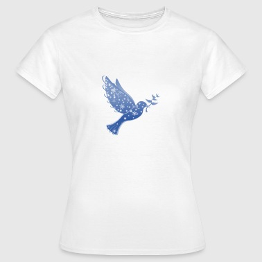 Dove in blue Peace Dove Peace - Women's T-Shirt