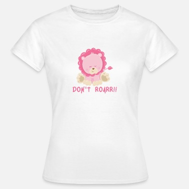 Cute Lion Cub Do not ROARR lion baby animal child animal baby lion cub - Women's T-Shirt
