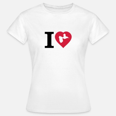 French West Indies I love gwada! - T-shirt Femme