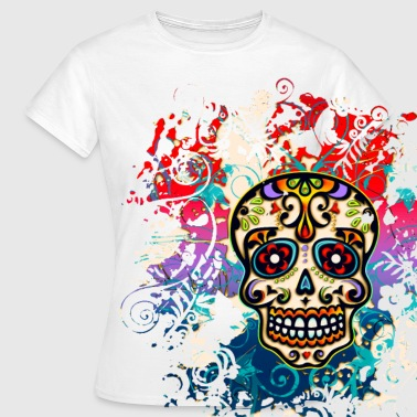 Hipster Mexican Sugar Skull - Day of the Dead - Women's T-Shirt