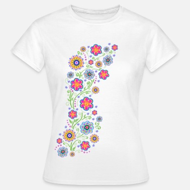 Floral Spring flowers, summer, garden, nature, beautiful - Women's T-Shirt