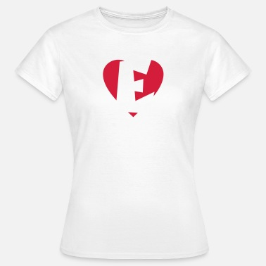 Ellinor Hjerte E - I love E - Dame-T-shirt