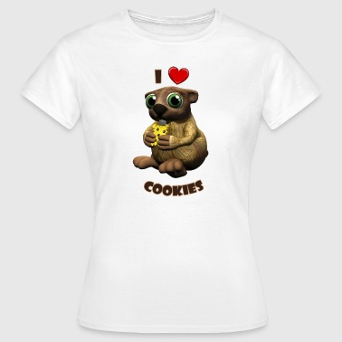 Farmerama Murmeltier I heart Cookies - Frauen T-Shirt