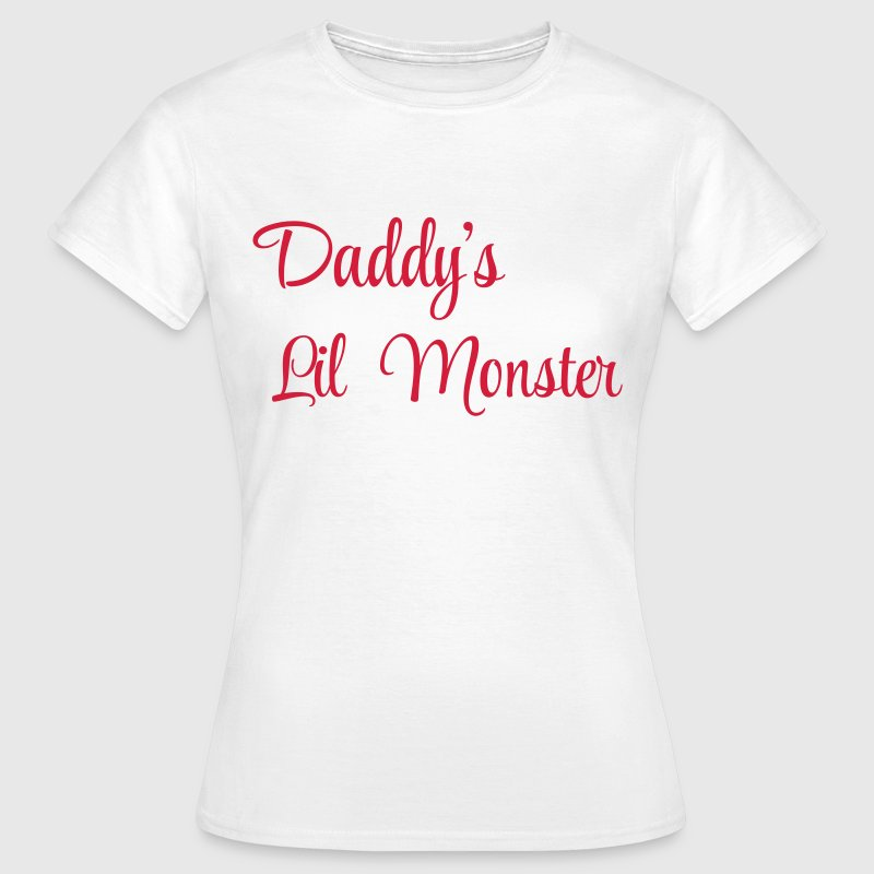 Daddy's little monster - Dame-T-shirt