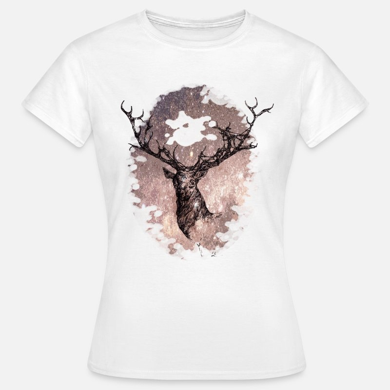 Animal Camisetas - the star of the stag - Camiseta mujer blanco