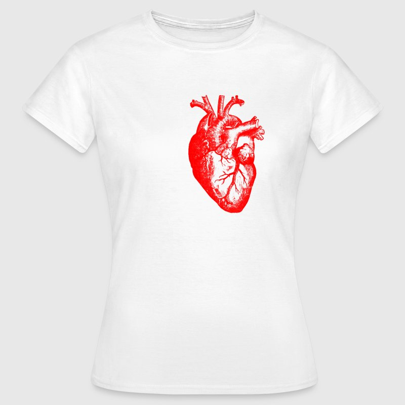 I love / I heart Herz Anatomie  - T-skjorte for kvinner