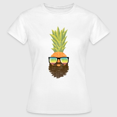 Pineapple Hipster With Beard And Sunglasses - T-shirt Femme