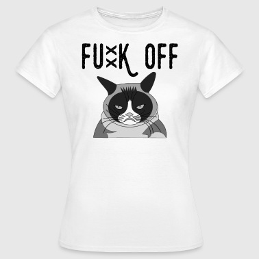 Fucking Mood Fuck off! bad mood cat meow - Women's T-Shirt