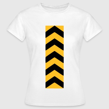 CAUTION TAPE - ABSPERRBAND - ARROW - YELLOW BLACK - Frauen T-Shirt
