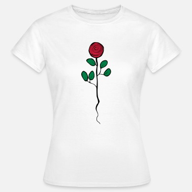 Rosen Symbole Rose - Frauen T-Shirt