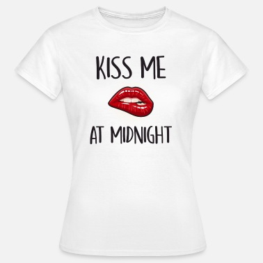 Funny Break Up Kiss Me At Midnight - Women's T-Shirt