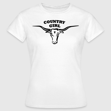 Country country longhorn girl - Frauen T-Shirt