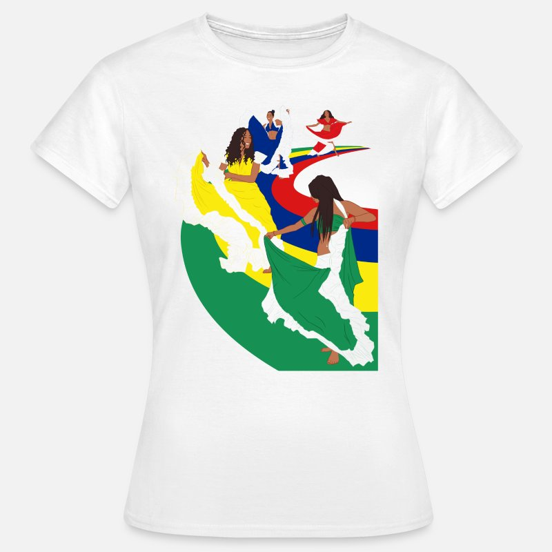 Mauritius T-Shirts - Ladies Sega Dance - White - Women's T-Shirt white