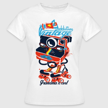 Vintage Retro photo addiction - Women's T-Shirt