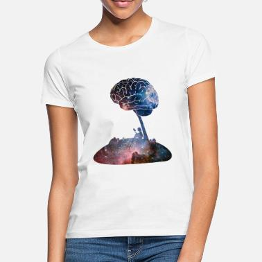 Funny Adhd Reading Under the Stars - Women's T-Shirt