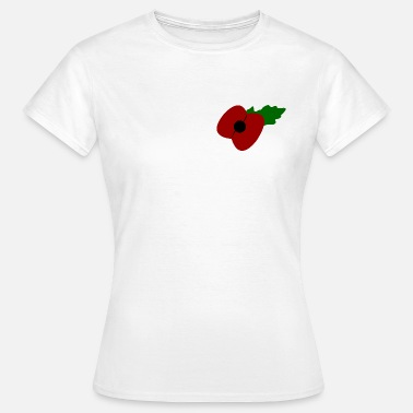 Remembrance Day Poppy - Women's T-Shirt