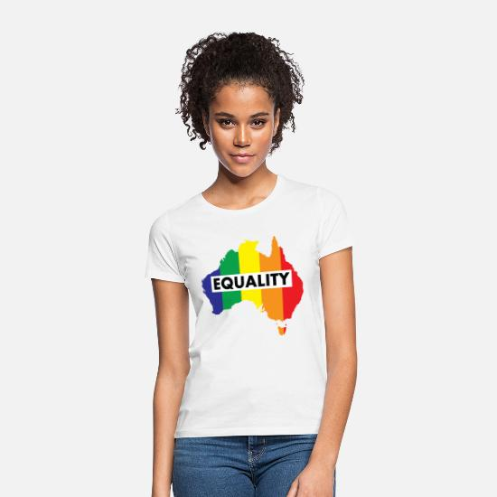 YES VOTE T-SHIRT marriage equality australia rainbow lgbt gay rights Ladies NEW