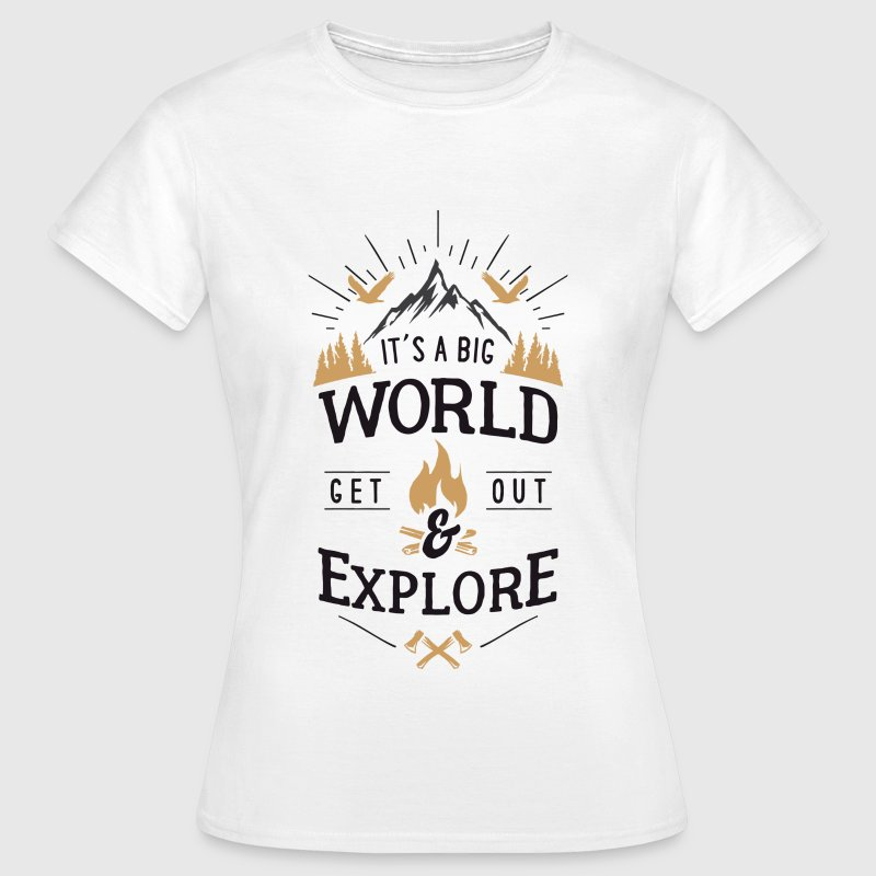 get out & explore - Frauen T-Shirt