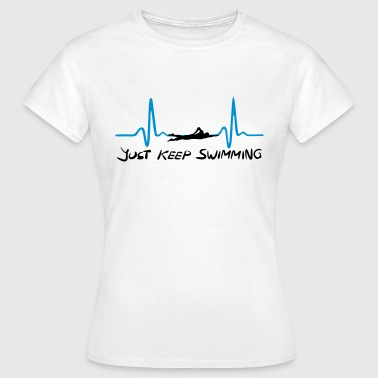 Just keep swimming, Swimming Heartbeat, ECG - Naisten t-paita