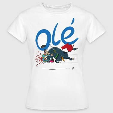Bullfighting Olé, unfortunate bullfighter (for light shirts) - Women's T-Shirt