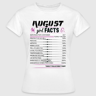 August Girl Facts Leo - Women's T-Shirt