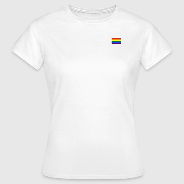 RAINBOW FLAG round corner 400 dpi - Women's T-Shirt